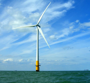 Offshore wind farm turbine by Phil Hollman